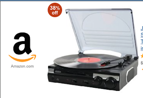 It Was This Jensen JTA 230 3 Speed Stereo Turntable With Built In Speakers  That Includes An A/D Converter And USB Port Plus ...