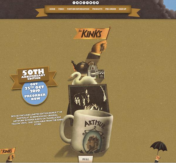 Kinks Arthur     50th Anniversary Box Set Drops October 25th on BMG
