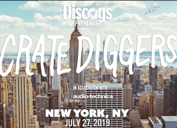 """DISCOGS In Association With Audio-Technica Presents """"Crate Diggers"""" Record Fair NYC Sat. July 27th"""