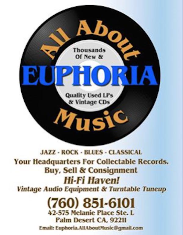 Veteran Jazz Dealer Jeff Barr Opens Euphoria Records in Palm Desert, CA.