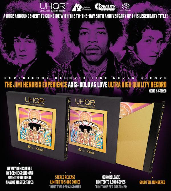 UHQR Returns, This Time From Analogue Productions Starting With Jimi Hendrix Classics